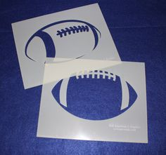 Football Stencils L Mylar 2 Pieces of 14 Mil X - Painting /Crafts/ Templates Quilting Frames, Quilting Stencils, Quilting Rulers, Quilting Classes, Quilting Blogs, Quilting Designs, Stencil Templates, Stencil Painting, Machine Quilting