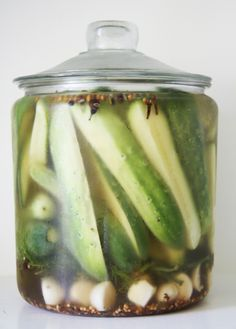 A Country Farmhouse: Refrigerator Pickles - with bite