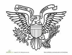 U.S. Symbols Coloring Page