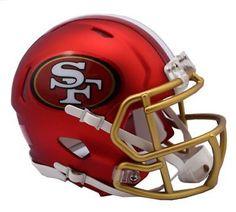 Football-Other 37753: San Francisco 49Ers Riddell Nfl Matte Blaze Alternate Speed Mini Helmet New 2017 -> BUY IT NOW ONLY: $35.5 on eBay!