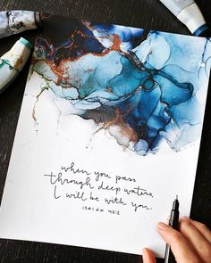 Alcohol Ink Crafts, Alcohol Ink Painting, Alcohol Markers, Alcohol Ink Art, Pour Painting, Bible Verse Painting, Bible Verse Wall Art, Acrylic Pouring Art, Marker Art