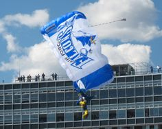 The USAFA Mascot coming in for a landing. (http://www.usafa.af.mil/)