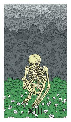 Death tarot card by Jesse Simpson