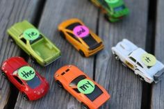 "{Sight Word Drag Racing} ""There are few toys my boys love more than their Matchbox cars. I watched them eagerly race two cars at a time down their track, I was struck with an idea. With one simple twist, their playful competition would make a motivating and educational game. Sight Word Drag Racing was born."""