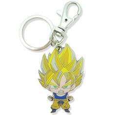 This is a Dragon Ball Z Super Deformed Goku Metal Keychain. Dragon Ball Z fans are rabid about their favorite franchise and this Super Deformed Goku keychain is a pretty sweet way to show your love fo