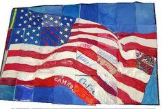 flag mural
