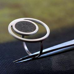 Orbit Concrete Ring, by BAARA Jewelry