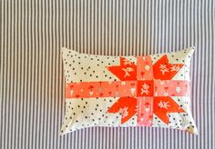 Merry Gifts Pillow sewn by Heidi Staples from Holiday Wishes book