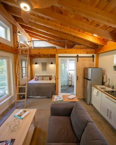 Honeycrisp Cottage - A Tiny Timber Frame - Tiny houses for Rent in Putney, Vermont, United States Tiny Houses For Rent, Tiny House Loft, Tiny House Living, Tiny House Design, Small House Plans, Tiny Cabin Plans, Living Room, Woodstock, House Ideas