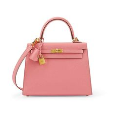 fd0798536516 A ROSE CONFETTI EPSOM LEATHER SELLIER KELLY 25 WITH GOLD HARDWARE , HERMÈS,  2016