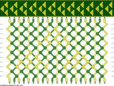 Triforce Friendship Bracelet Pattern!!!!