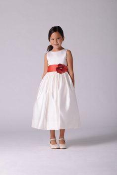 e4e480f778 Us Angels Flower Girl Satin And Organza Sleeveless Bodice With Sash And Hem  Full Skirt- Girls 7-16