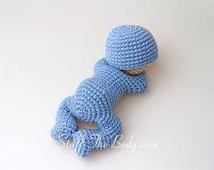 Sleeping baby amigurumi pattern by StuffTheBody