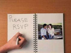 Ambrosia Photography - Stop-Motion Wedding Invitation - YouTube