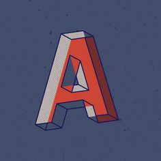 The Mexican designer has created a typeface from the alphabet he designed for 36 Days of Type and he's sharing it for free Icon Design, Logo Design, Graphic Design, 3d Letters, Mexican Designs, 36 Days Of Type, Visual Identity, Hand Lettering, Blog