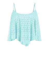 Mint Green (Green) Mint Green Daisy Lace Hanky Hem Crop Top   304840437   New Look I saw this the other day and loved loved loved it. It's such a shame I don't have enough money to buy everything :(