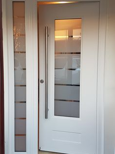 Stunning interior barn doors for closets - read up on our page for even more choices! Contemporary Front Doors, Modern Front Door, House Front Door, Front Door Design, Glass Front Door, White Front Doors, Aluminium Front Door, Back Doors, Doors With Glass