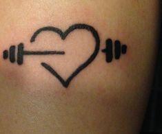 Great Tattoos, Beautiful Tattoos, Body Art Tattoos, Hand Tattoos, Small Tattoos, Dumbbell Tattoo, Weightlifting Tattoo, Arm Sleeve Tattoos For Women, Tattoo Fixes