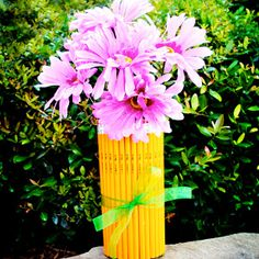 "I love this original way to say, ""Thank you"" to a special teacher. The Teacher's Pencil Vase is inexpensive and can be made by the student. Gifts kids can make are much more meaningful than presents that the parent has crafted."