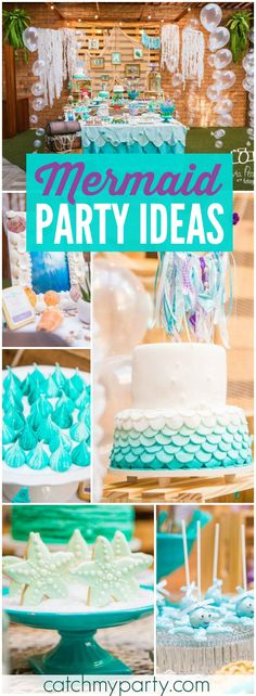 Check out this fantastic under the sea birthday party! See more party ideas at Catchmyparty.com!