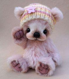 Ciao My Teddy Bear, Cute Teddy Bears, Needle Felted Animals, Felt Animals, Needle Felting, Tiny Teddies, Charlie Bears, Cute Stuffed Animals, Boyds Bears