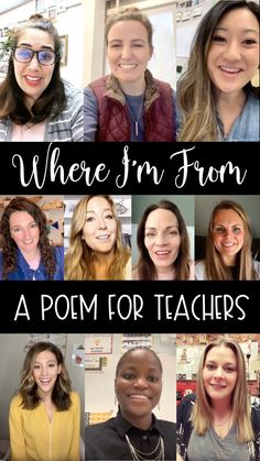 If you need an idea for back to school or distance learning collaboration in your middle or high school English class, why not try a video Where I'm From poem with your students!  Poetry activities are great for distance learning because they engage the creative side of students who are bore and stuck in an elearning situation that they don't enjoy.  Bring fun and creativity into your remote learning classroom with this fun activity!