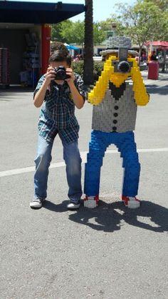 Legoland. Photos for fun. Camera guy. Buddies. Outing. Camera phone.  Skybrightphoto.com The Wonderful Company, Lego Blocks, Camera Shots, Legoland, Photography Editing, Legos, Cool Toys, Photo Shoot, Photographers