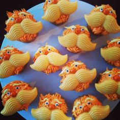 Lorax cupcakes made by Tannicakes on FB