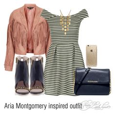 """""""Aria Montgomery inspired outfit/PLL"""" by tvdsarahmichele ❤ liked on Polyvore featuring Sister Jane, WalG, Konstantina Tzovolou, MICHAEL Michael Kors, John Hardy and Rifle Paper Co"""