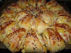 Töltött háromszögek World Recipes, Meat Recipes, Cooking Recipes, Bread Dough Recipe, Good Food, Yummy Food, Hungarian Recipes, Snacks, Winter Food