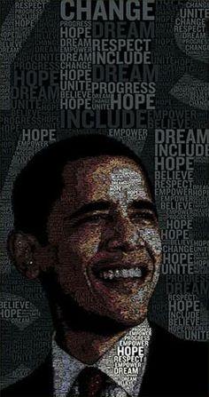 Obama Typographic Portraits