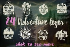 24 ADVENTURE LOGOS PACK  @creativework247
