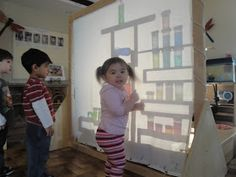 The shadow screen is a wonderful addition to a classroom. The children have opportunity to build and see objects grow and shrink. The possib...