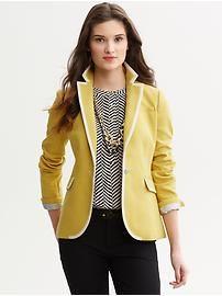 Tipped one-button blazer