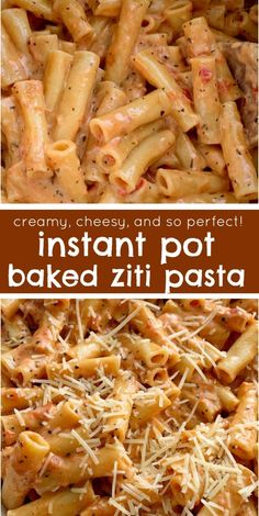 """Perfect Instant Pot Baked Ziti Instant Pot Recipe Pressure Cooker Baked Ziti Baked Ziti is a family favorite dinner that's made even easier when you """"bake"""" it in an Instant Pot! 15 minutes start to finish and only a few simple ingredients. Instant Pot Pasta Recipe, Best Instant Pot Recipe, Instant Pot Dinner Recipes, Easy Pasta Dinner Recipes, Simple Recipes For Dinner, Instant Pot Meals, Gourmet Dinner Recipes, Recipe Pasta, Dinner Healthy"""