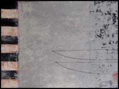 "Graceann Warn, Journey Boats, 31""x 41""x 1.5"", Oil, encaustic and objects on wood panel, 2013"