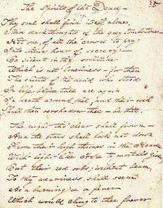 Manuscript of Edgar Allan Poe's Spirits of the Dead