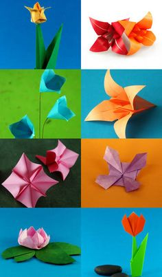 Origami Flowers Cool idea for center pieces or take home gift