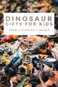Check out our Ultimate List of Dinosaur Gifts for Kids who Love Dinos! This gift guide has unique ideas that the dinosaur obsessed fan will really enjoy. Gifts ideas for boy and girls from toddlers to those hard to buy for tweens. Everything from dinosaur toys, books, home decor, puzzles, clothes, fossil kits, crafts and so much more! #dinosaurs #gifts #christmas Dinosaur Books For Kids, Lego Dinosaur, Dinosaur Movie, The Good Dinosaur, Toddler Books, Toddler Gifts, Gifts For Kids, Quiet Time Activities, Dinosaur Activities