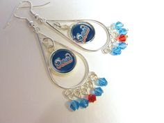 NFL Miami Dolphins Chandelier Dangle Earrings by Sports Jewelry Studio on Etsy.  $16.50.  etsy.com/shop/sportsjewelrystudio