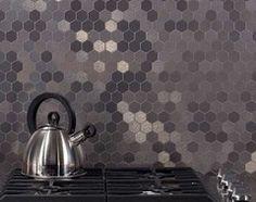 Aspect Honeycomb Stainless Matted Metal Tile - 17601396 - Overstock - Big Discounts on Backsplash Tiles - Mobile Decorative Tile Backsplash, Planking, Kitchen Backsplash, Backsplash Ideas, Stainless Backsplash, Beadboard Backsplash, Herringbone Backsplash, Hexagon Tile Backsplash, Toilet