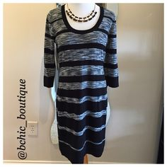 "Calvin Klein Dress Worn once 3/4 sleeve dress by Calvin Klein. Length is ""35 and 100% Acrylic Calvin Klein Dresses Midi"