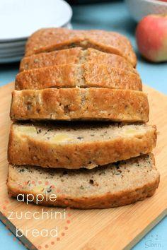 Apple Zucchini Bread Apple Zucchini Bread, Fruit Bread, Zucchini Bread Recipes, Apple Bread, Apple Loaf, Apple Bake, Zucchini Cake, Banana Bread, Bread Cake