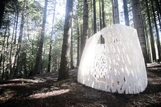 Smith Allen Studio may have created the world's first architecture with Echoviren architectural installation made of assembled bricks.