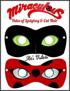 Máscara Miraculous Ladybug ou Cat Noir