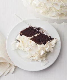 chocolate cake with coconut cream