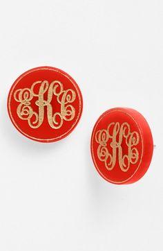 Personalized Monogram Stud Earrings http://rstyle.me/n/dsnjnnyg6