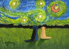 Black Yellow Lab STARRY SKY Limited Edition Art by ToddYoungArt, $13.50 Manny and Summie!