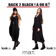 Choose your favorite look: Black... or Black? A [code 641.7079] or B [code…