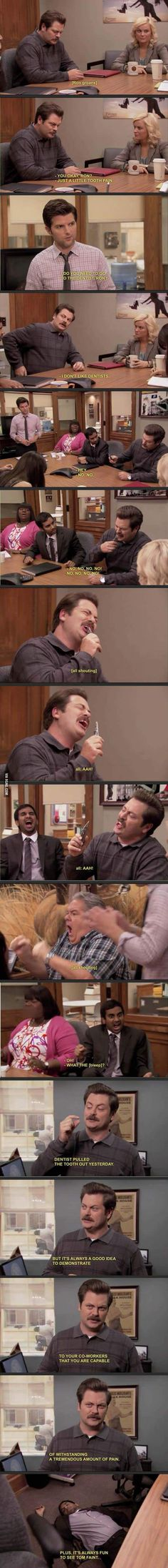 Ron Swanson and the dentist